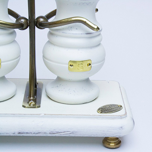 Набор для соли и перца Capanni Прованс на прямоугольной подставке, фото