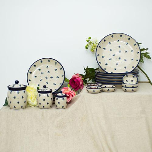 Набор обеденных тарелок Ceramika Artystyczna Голубика, фото