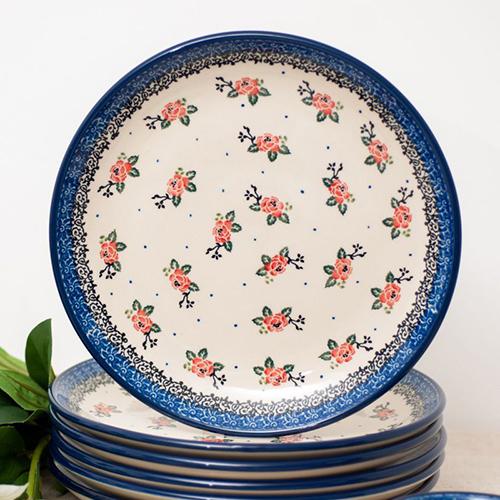 Набор тарелок Ceramika Artystyczna Чайная роза, фото
