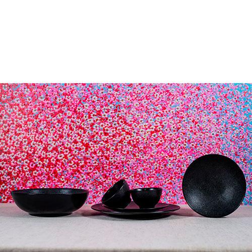 Набор пиал для чая Bastide черного цвета 6шт, фото