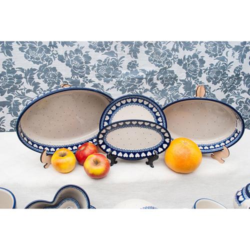 Блюдо Ceramika Artystyczna овальное Валентинки, фото