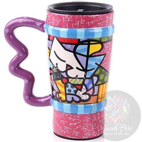 Дорожная чашка Parastone дизайна Romero Britto объемом 350 мл, фото
