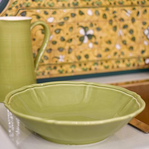 Салатник Villa Grazia Яркое лето салатового цвета 33см, фото