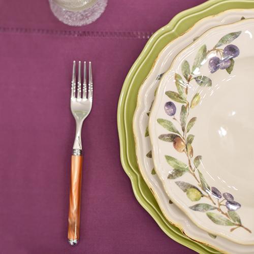 Набор подставных тарелок Villa Grazia Яркое лето салатового цвета на 6 персон, фото