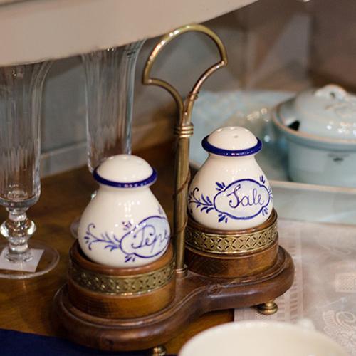 Набор для соли и перца Capanni Классика на подставке с ручкой, фото