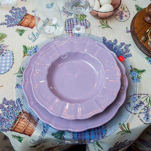 Набор из 6 глубоких тарелок Comtesse Milano Loto фиолетового цвета, фото