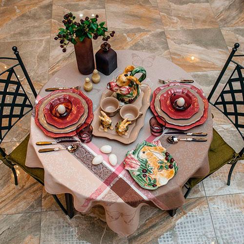 Набор из 6 тарелок Comtesse Milano Iris красного цвета, фото