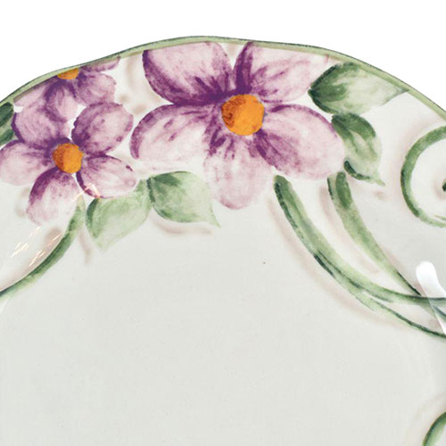Тарелка обеденная Bizzirri Samantha 30см с декором-цветами, фото