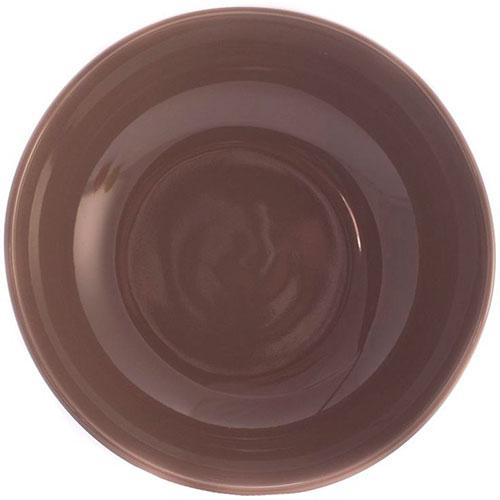 Керамический салатник Comtesse Milano Ritmo коричнево-серый, фото