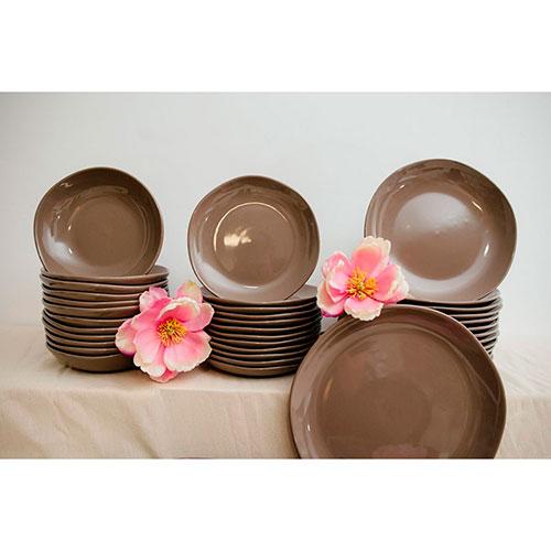 Обеденная тарелка Comtesse Milano Ritmo коричнево-серого цвета, фото