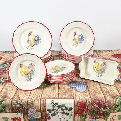 Набор обеденных тарелок Villa Grazia Петушки на 6 персон, фото