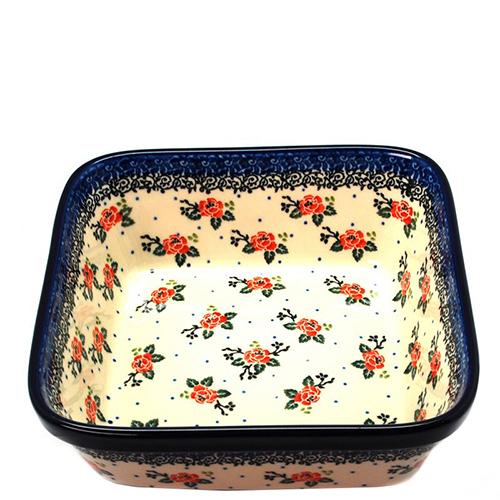Салатник Ceramika Artystyczna Чайная роза квадратный, фото