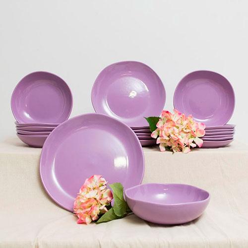 Десертная тарелка Comtesse Milano Ritmo фиолетового цвета, фото