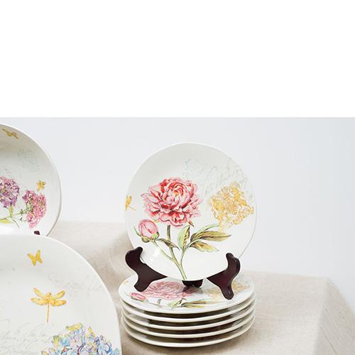 Тарелка десертная Bizzirri Гортензия, фото