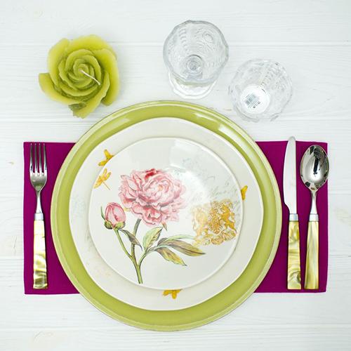 Десертная тарелка Bizzirri Гортензия, фото