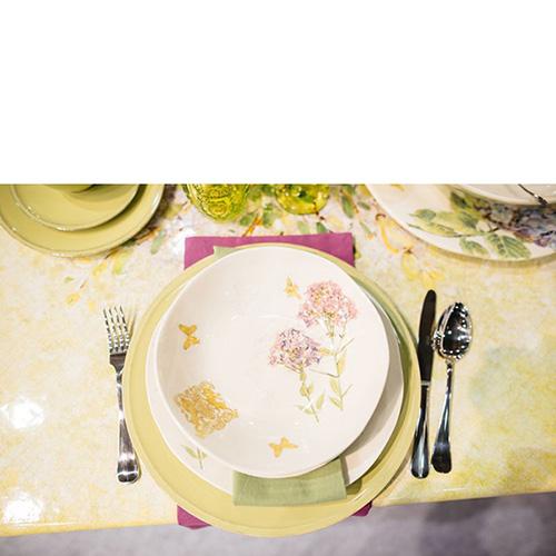 Тарелка суповая Bizzirri Гортензия, фото