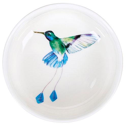 Белая пиала Miss Etoile с принтом-колибри внутри, фото