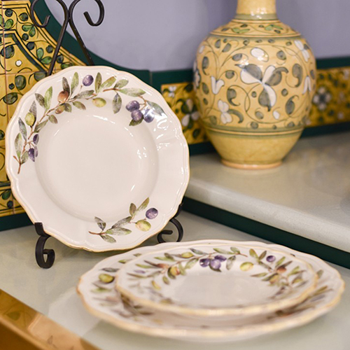 Набор тарелок для супа Villa Grazia Оливы и маслины на 6 персон, фото