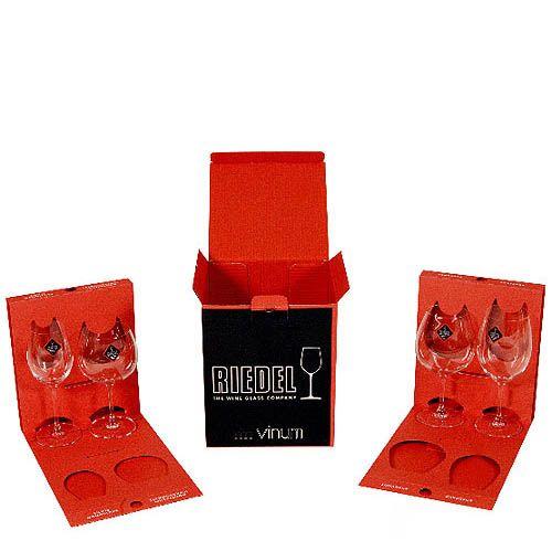 Набор из 4-х бокалов для дегустации Riedel Vinum, фото