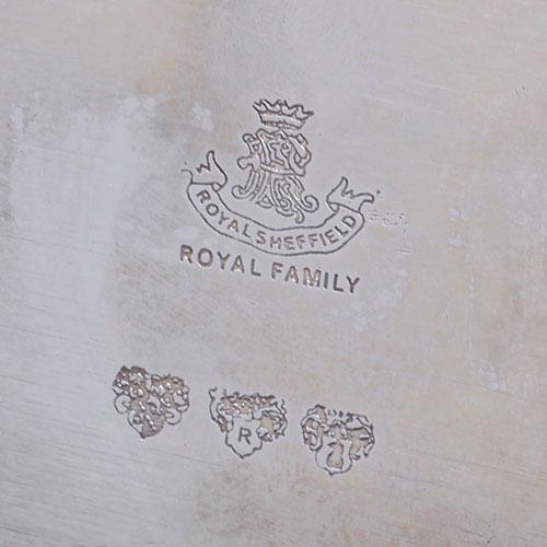 Блюдо на ножках Royal Family Шеффилд с посеребрением, фото