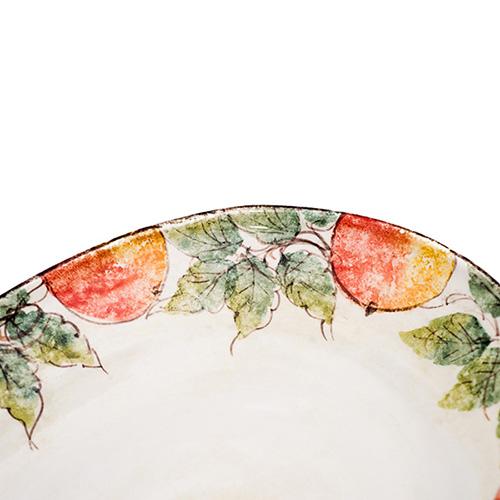 Блюдо овальное большое Bizzirri Персики, фото