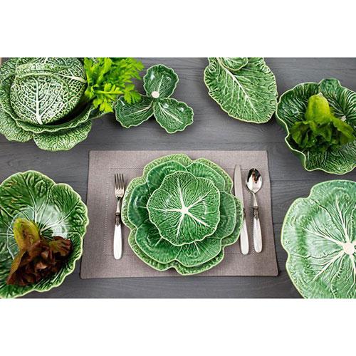 Тарелка обеденная Bordallo Pinheiro Капуста 26,5см, фото