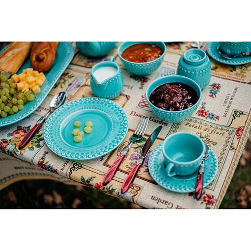 Десертная тарелка Bordallo Pinheiro Фантазия бирюзового цвета, фото