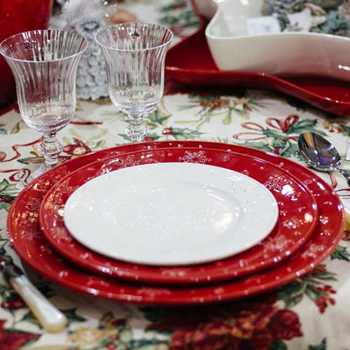 Подставная тарелка Bordallo Pinheiro Снежинки, фото