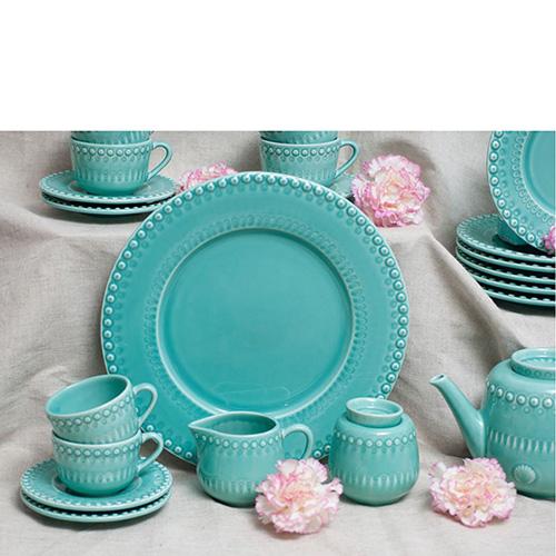 Тарелка подставная Bordallo Pinheiro Фантазия бирюзового цвета, фото