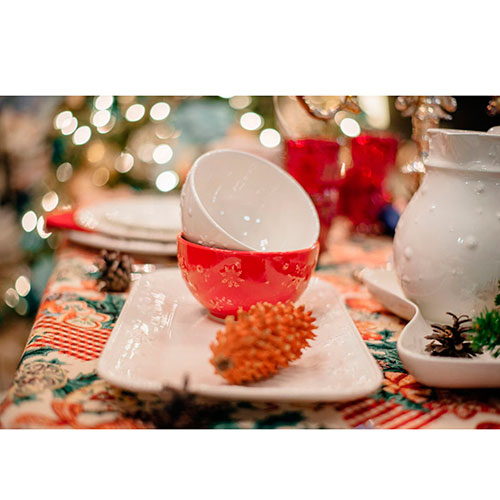 Пиала для супа Bordallo Pinheiro Снежинки бежевого цвета, фото