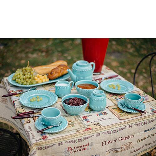 Пиала для супа Bordallo Pinheiro Фантазия голубого цвета, фото