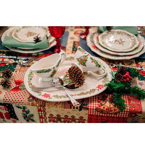 Соусник Bordallo Pinheiro Рождество белого цвета, фото