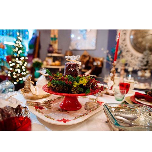 Блюдо прямоугольной формы Bordallo Pinheiro Рождество белого цвета 47x36,5см, фото