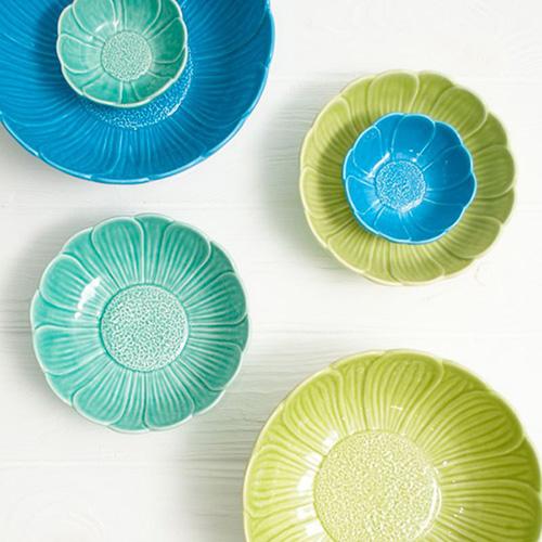 Салатник Bordallo Pinheiro Кувшинка голубого цвета, фото