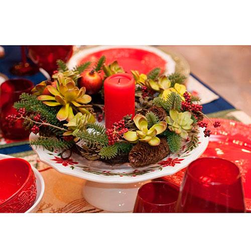 Тортовница Bordallo Pinheiro Рождество белого цвета, фото