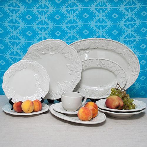 Белая подставная тарелка Bordallo Pinheiro Артишок и птица, фото