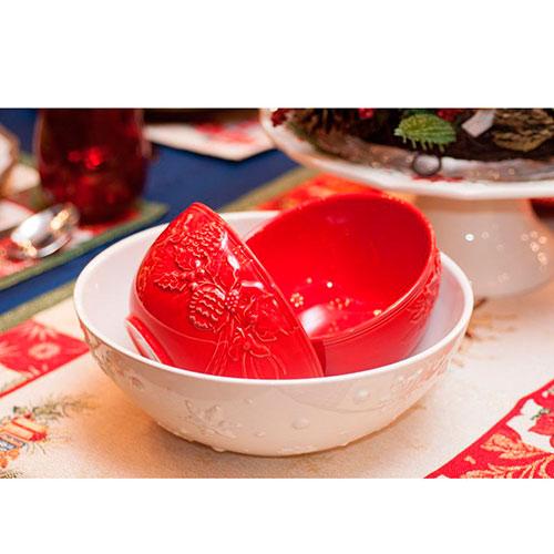 Пиала красного цвета Bordallo Pinheiro Зима, фото