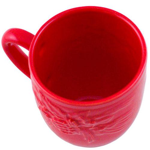 Набор чашек на 6 персон Bordallo Pinheiro Зима красного цвета, фото