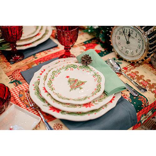 Обеденная тарелка Bordallo Pinheiro Рождество, фото