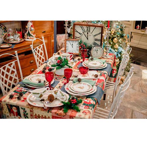 Набор тарелок на 6 персон Bordallo Pinheiro Рождество белого цвета 27см, фото