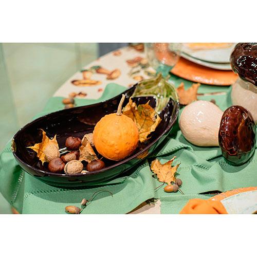 Большое блюдо Bordallo Pinheiro Баклажан, фото