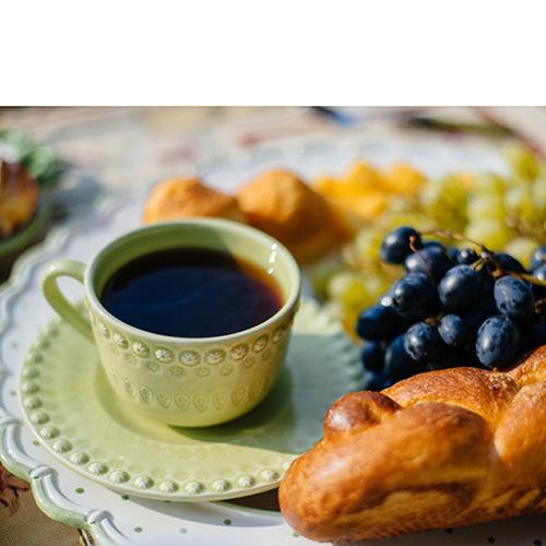 Набор из 6 чайных чашек с блюдцами Bordallo Pinheiro Фантазия зеленого цвета, фото