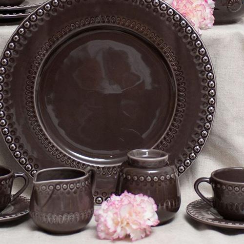 Сахарница Bordallo Pinheiro Фантазия коричневого цвета, фото
