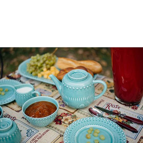 Молочник Bordallo Pinheiro Фантазия голубого цвета, фото