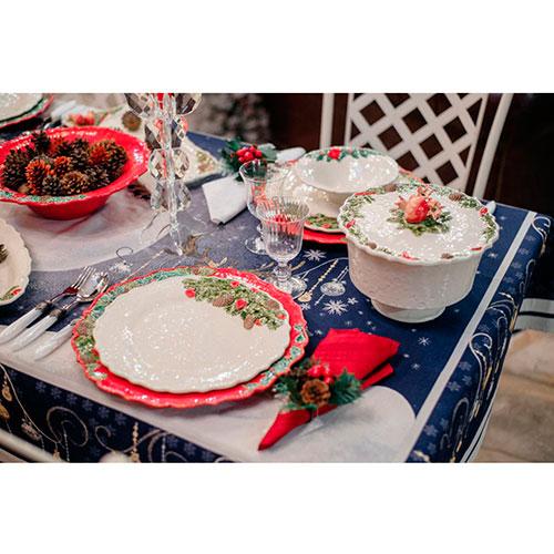Блюдо красного цвета Bordallo Pinheiro Рождественская гирлянда 35,5см, фото