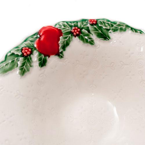 Салатник белого цвета Bordallo Pinheiro Рождественская гирлянда, фото