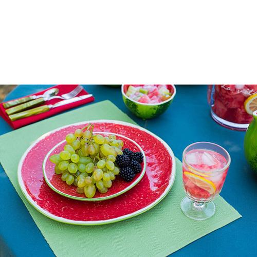 Набор из 6 тарелок Bordallo Pinheiro Арбуз, фото