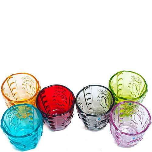 Набор стопок Livellara Rococo разных цветов, фото