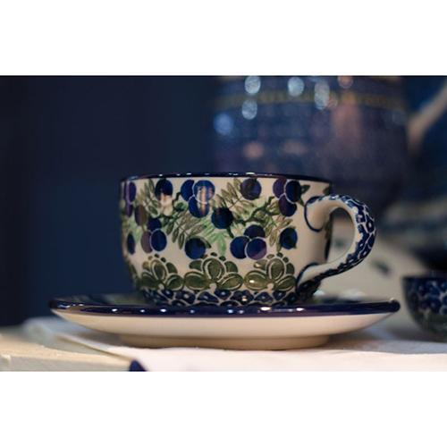 Чашка с блюдцем Ceramika Artystyczna Ягодная поляна, фото