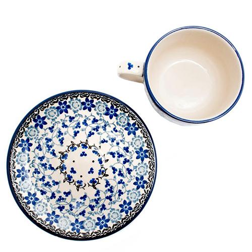 Чашка с блюдцем Ceramika Artystyczna Полевые цветы, фото